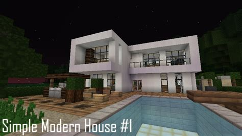 minecraft simple house simple modern house 1 minecraft project