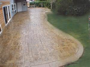 Cement Patio Design by Deck And Stamped Concrete Patio Easy Home Decorating Ideas