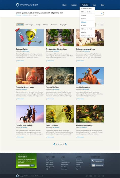 stron biz wordpress psd templates