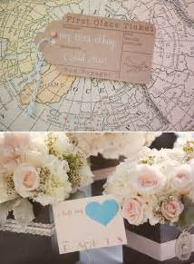 travel theme decor travel themed vintage wedding onewed com