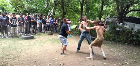 backyard fights videos watch backyard scrap ends with seizure inducing knockout
