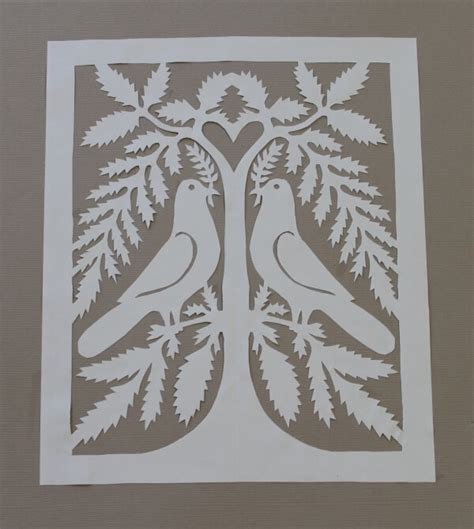 Paper Cutting Craft Patterns - paper cutting attempt lou