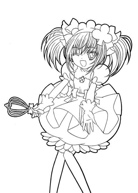 shugo chara funny anime coloring pages for kids printable