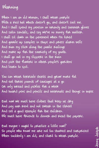 I Am Purple And I Am Beautiful by Quot Warning Quot By Joseph Quot When I Am An I