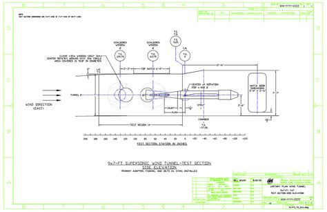 Test Plan Sections by Unitary Plan Wind Tunnel 9 By 7 Foot Supersonic Test