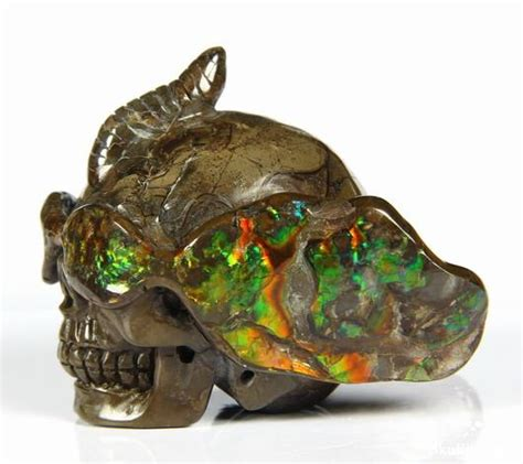 Carved Gemstone Polarized Sunglasses S1019 cool gemstone ammolite carved skull with sunglasses skullis gemstone skulls