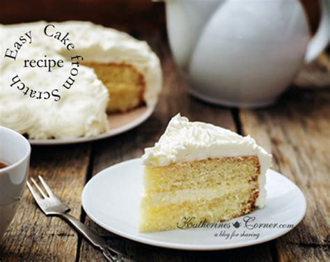 make a cake from scratch katherines corner