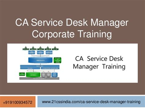 ca service desk manager corporate 9100934572