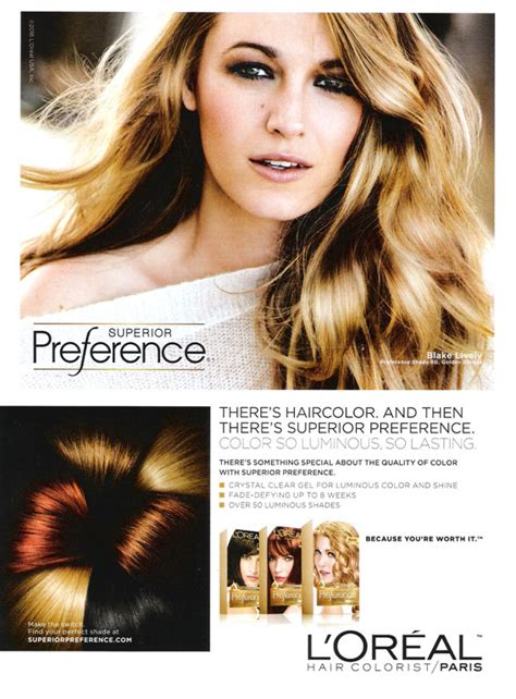 hair colour new adverts 2015 blake lively actress celebrity endorsements celebrity