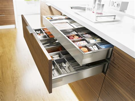Blum Intivo Drawers stainless steel drawer and inner drawer suitable for