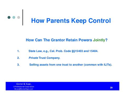 irc section 672 how parents keep control both during their lifetimes and