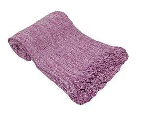 large luxury lilac purple chenille sofa bed throw