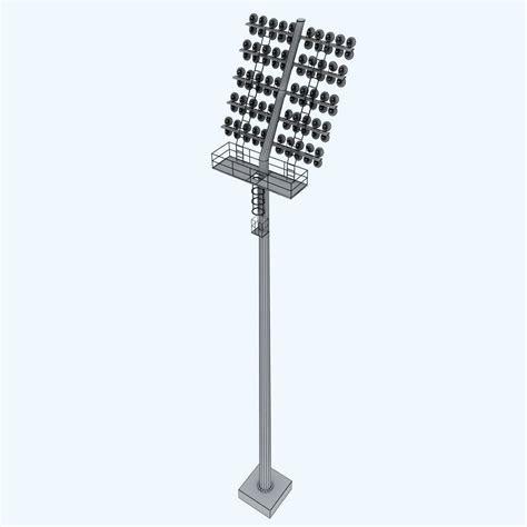 Stadium Light Fixtures Stadium Light Rounded Large 3d Model Max Obj 3ds Fbx Mtl