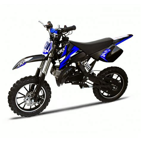 blue motocross crx 50cc mini dirt bike in blue