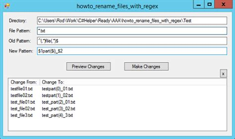 xml regexp pattern exles use regular expressions to rename files in c c helper