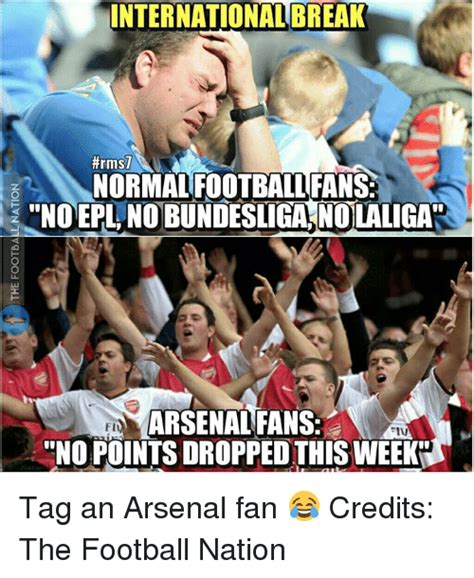 epl international break 25 best memes about arsenal fan arsenal fan memes