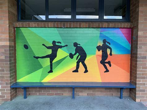 sports playground murals street art urban art