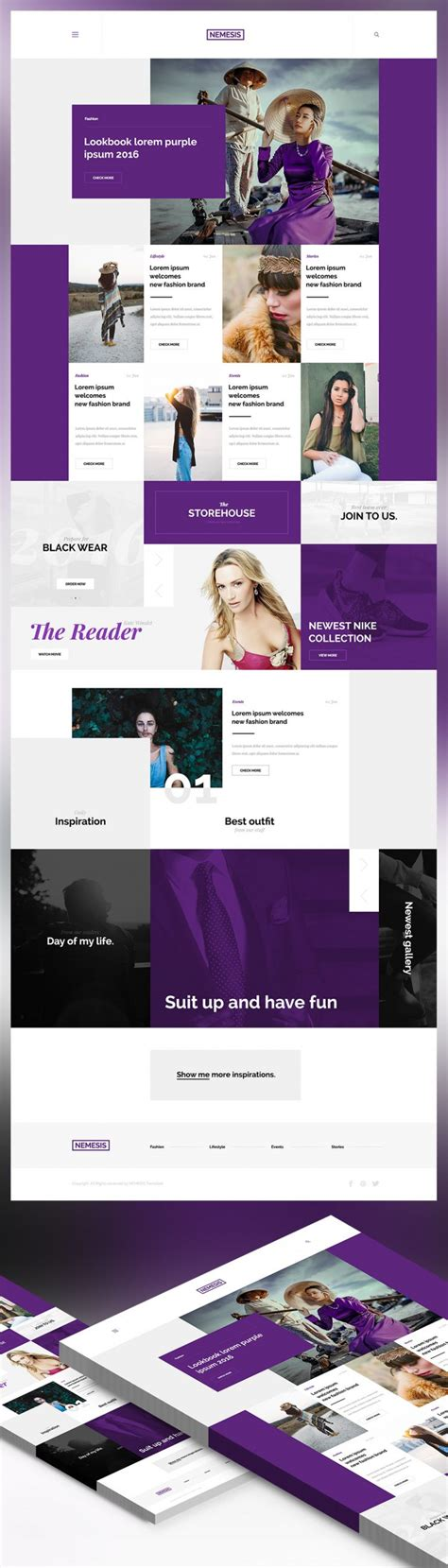 fashion templates for blogger free download creative fashion magazine blog website template free psd