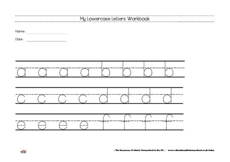 Lowercase Letters Worksheet