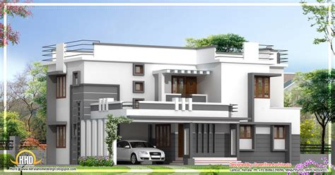 contemporary 2 story kerala home design 2400 sq ft