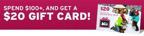 Rei Gift Card Target - rei spend 100 get a 20 gift card
