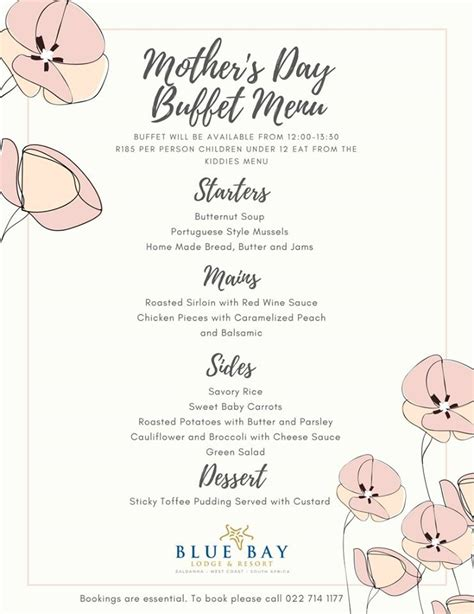 Come With Me Mothers Day Menu Part 3 by May Events On The West Coast Way West Coast Way