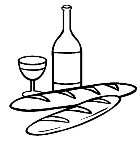 free wine coloring pages