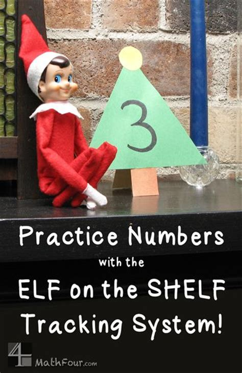 On The Shelf Number by Number Practice With On The Shelf Or Advent Calendar