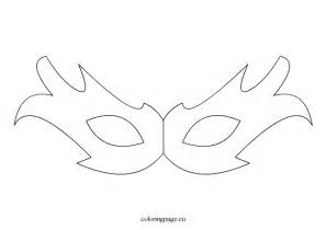 masks printable template carnival mask coloring page