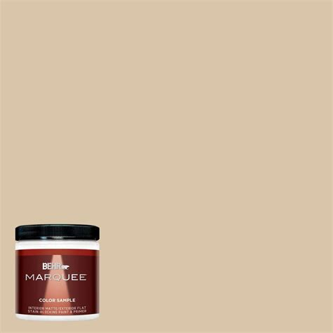 behr marquee 8 oz mq2 23 almond butter interior exterior paint sle mq30016 the home depot