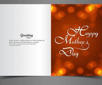 design kartu ucapan hari ibu kartu ucapan ibu hari kreatif teks konsep vektor vektor
