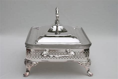 Mint In Box Oneida Silver Plate Buffet Server Chafing Dish Silver Buffet Server