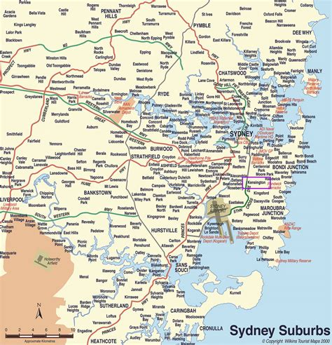 sydney map map of sydney sydney maps mapsof net