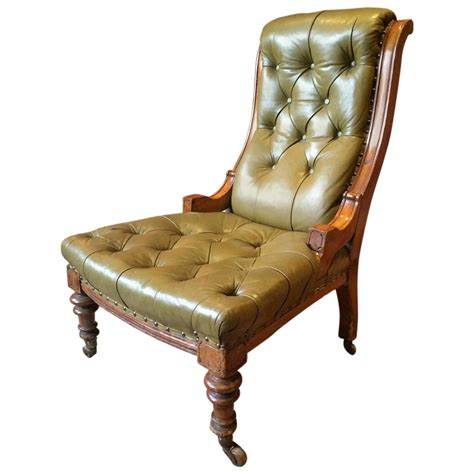 Chesterfield Style Armchair by Antique Leather Armchair Lounge Salon Library