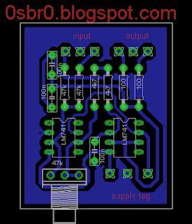 fungsi layout pcb skematik dan layout pcb rangkaian filter subwoofer