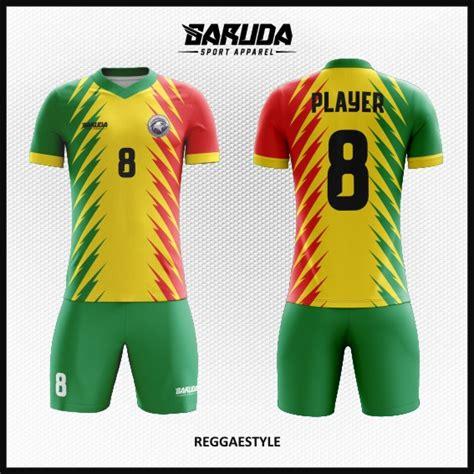 desain baju futsal warna hijau tosca desain baju futsal terbaru reggaestyle garuda print