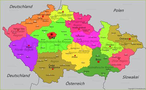 karte deutschland tschechien karte tschechien politische landkarte der tschechischen
