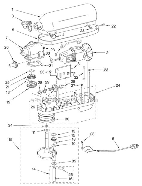 kitchenaid stand mixer parts diagram kitchenaid kg25h7x parts list and diagram series 4