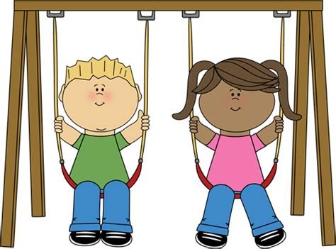 swing girl recess kids clip art kids images