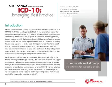 Dorris Mba Rhia Cphq by Dual Coding In Preparation For Icd 10 Emerging Best Practice