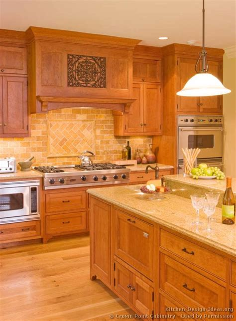 Light Wood Kitchen Cabinets countertop and backsplash idea traditional light wood