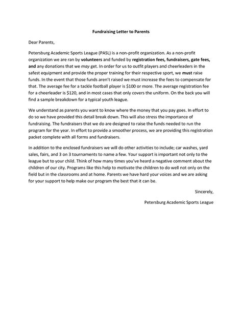 10 Best Fundraising Letters Images On Pinterest Fundraising Letter Letter Templates And Cover Nonprofit Fundraising Letter Template