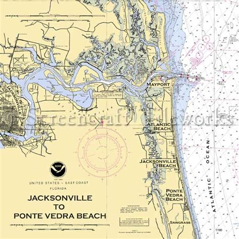 Floor And Decor Jacksonville by Florida Jacksonville To Ponte Vedra Beach Nautical Chart Decor