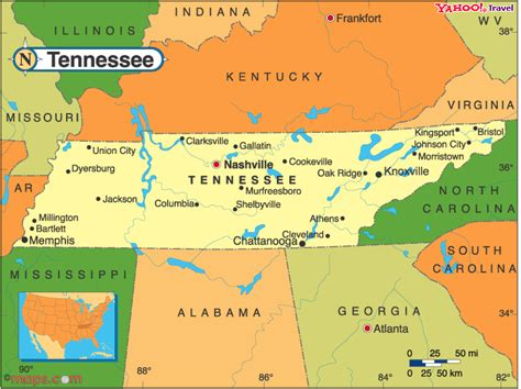 A Map Of Tennessee by Tennessee Map