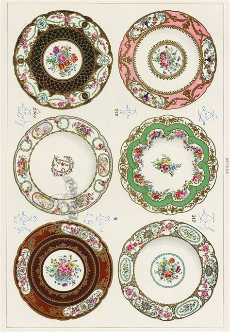 printable paper plates printable porcelain looking dollhouse plates free
