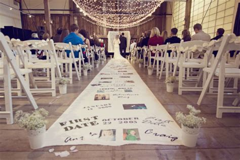 wedding aisle ideas 2 diy personalized aisle runner oh lovely day
