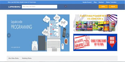 Buku Market Place Shop source code website penjualan buku marketplace foppsi kab maros