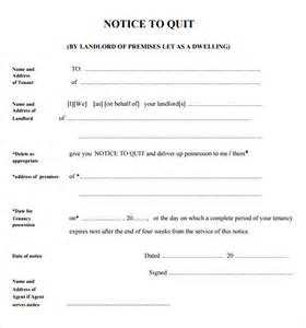 notice to quit sample 9 free documents in pdf