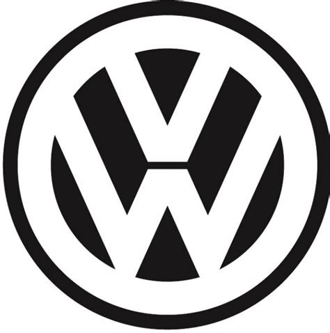 german volkswagen logo behind the badge connecting the volkswagen logo
