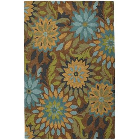 dazzle floral rug teal pier 1 imports